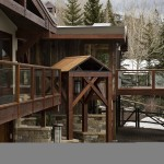 Clear tempered railing, Snowmass Village CO