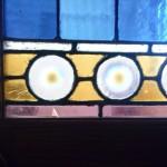 before restoration: cracks, missing glass, lead deterioration