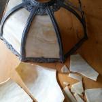 before restoration, Art Nouveau Lamp